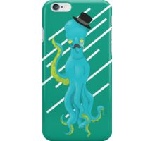 Top Hat Octopus - Line graphic iPhone Case/Skin