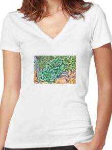 Produce Women's Fitted V-Neck T-Shirt