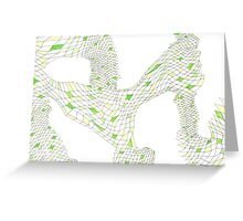 Geometric landscape green drawing Greeting Card