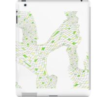Geometric landscape green drawing iPad Case/Skin