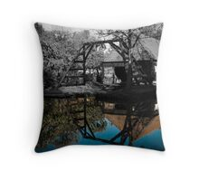 Colorized house  Throw Pillow