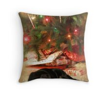 When can I open my presents.... Throw Pillow