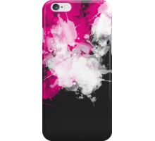 Paint Splatter Pink White Black iPhone Case/Skin