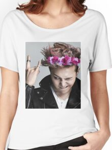 G-Dragon Flower Crown Women's Relaxed Fit T-Shirt
