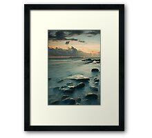 Osmington Mills Sunset.  Framed Print