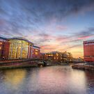 Nottingham Canal Sunset by Yhun Suarez