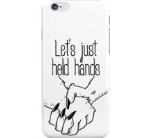 hold hands (asexual pride) iPhone Case/Skin