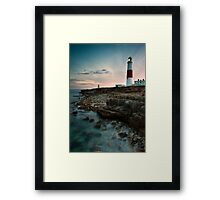 Portland Lighthouse Sunset.  Framed Print