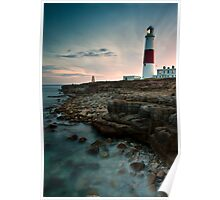 Portland Lighthouse Sunset.  Poster