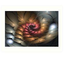 3D Blooms - Pastel Spiral Art Print