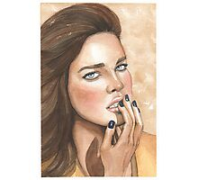 Natalia Vodianova Illustration Photographic Print