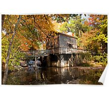 Old Grist Mill-Stone Mountain Park Poster