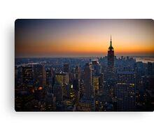 Panorama of Manhattan at sunset Canvas Print