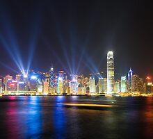 Hong Kong at night by javarman
