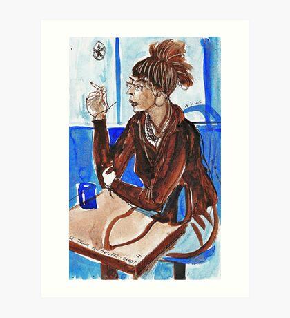 Smoking Lady (literally smoking!) Art Print