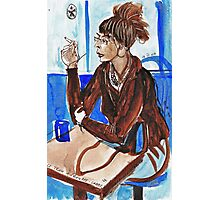Smoking Lady (literally smoking!) Photographic Print