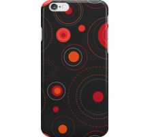 Circles Red Orange Black iPhone Case/Skin