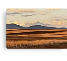 America The Beautiful - Happy Thanksgiving Canvas Print