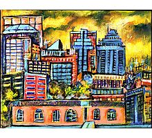 Montreal roofs Photographic Print