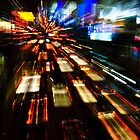 Traffic lights in motion blur by javarman