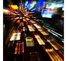 Traffic lights in motion blur Photographic Print