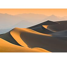 Sand dunes over sunrise sky in Death valley, California Photographic Print