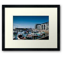 West bay Harbour.  Framed Print