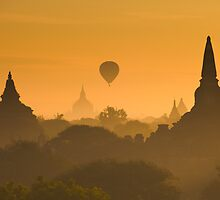 Sunrise over ancient Bagan, Myanmar by javarman