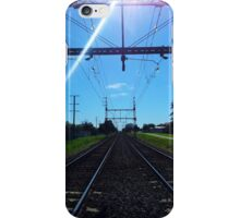 Rail Tracks Vanishing Point iPhone Case/Skin