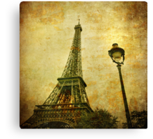 Vintage image of Eiffel tower Canvas Print
