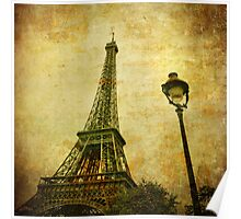 Vintage image of Eiffel tower Poster