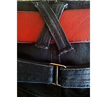 Fancy jeans, red belt Photographic Print