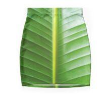 Broad Green Leaf Mini Skirt
