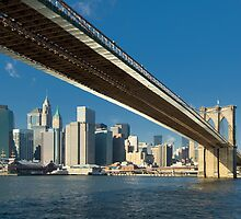 Brooklyn bridge, New York by javarman