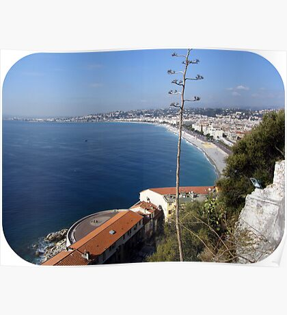 Wonderful view over the Baie des Anges Poster