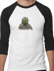 Blurred kermit reporter Men's Baseball ¾ T-Shirt