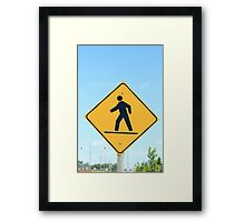Crosswalk Sign Framed Print