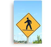 Crosswalk Sign Canvas Print