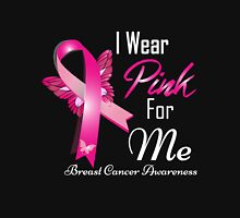 i wear pink for me breast cancer Womens Fitted T-Shirt