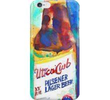 UTICA CLUB BEER Print from Original Watercolor iPhone Case/Skin