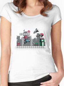 Mecha mario Women's Fitted Scoop T-Shirt