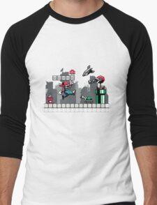 Mecha mario Men's Baseball ¾ T-Shirt