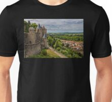 France. Carcassonne. The Walls and Towers. Unisex T-Shirt