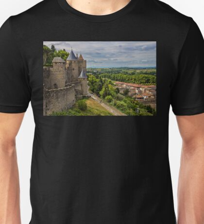 France. Carcassonne. The Walls and Towers. T-Shirt