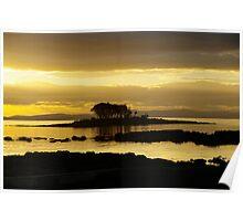 White Beach sunset, Tasmania, Tasman Peninsular Poster