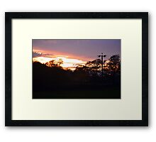 Sundown Over Esholt Woods Framed Print