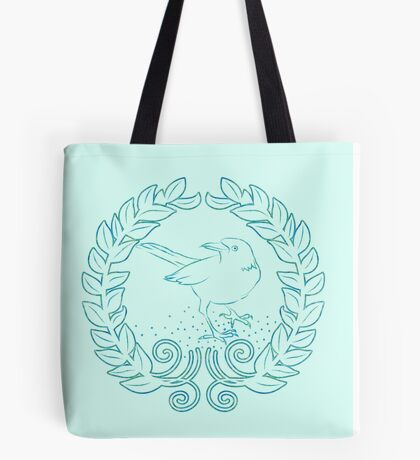 Pretty bird on a wreath Tote Bag