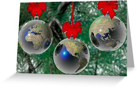 World Christmas card by Carol and Mike Werner