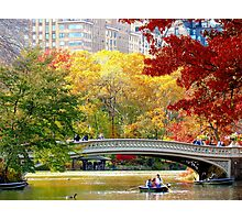 Autumn fun in Central Park, New York City  Photographic Print
