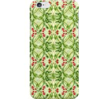 Abstract green leaves case iPhone Case/Skin